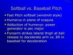 softball vs baseball pitch