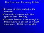 the overhead throwing athlete