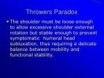 throwers paradox