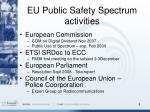 eu public safety spectrum activities