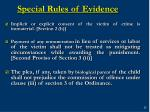 special rules of evidence