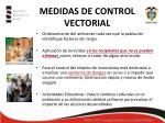 medidas de control vectorial