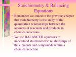stoichiometry balancing equations