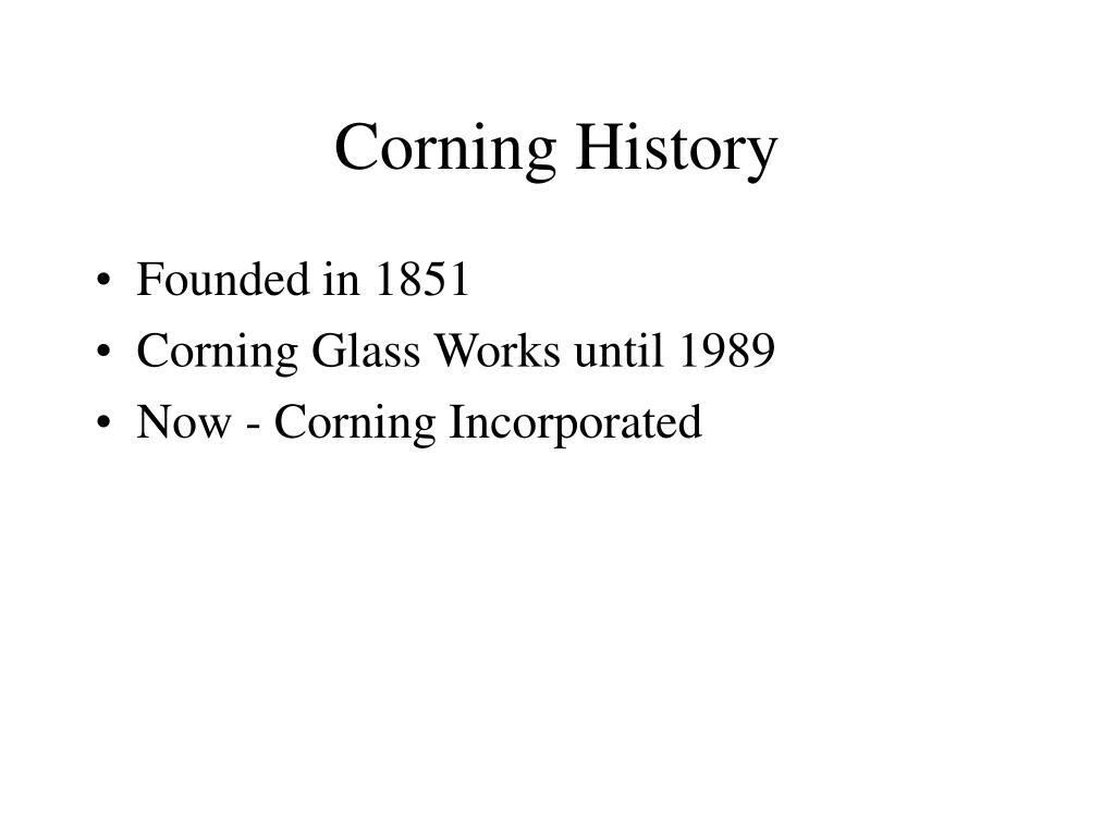 corning history l.