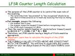 lfsr counter length calculation