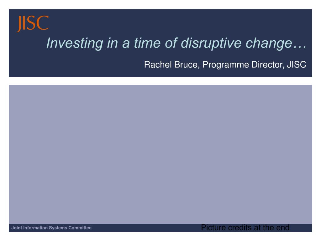 investing in a time of disruptive change l.