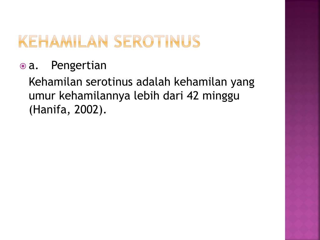 kehamilan serotinus l.