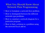 what you should know about network flow programming