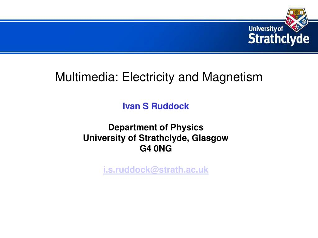 multimedia electricity and magnetism l.