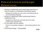 potential schedule and budget related issues