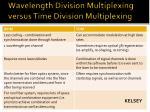 wavelength division multiplexing versus time division multiplexing