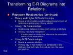 transforming e r diagrams into relations22