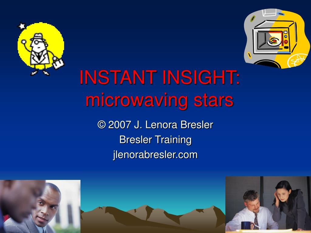 instant insight microwaving stars l.