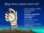 what does a good coach do