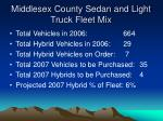 middlesex county sedan and light truck fleet mix