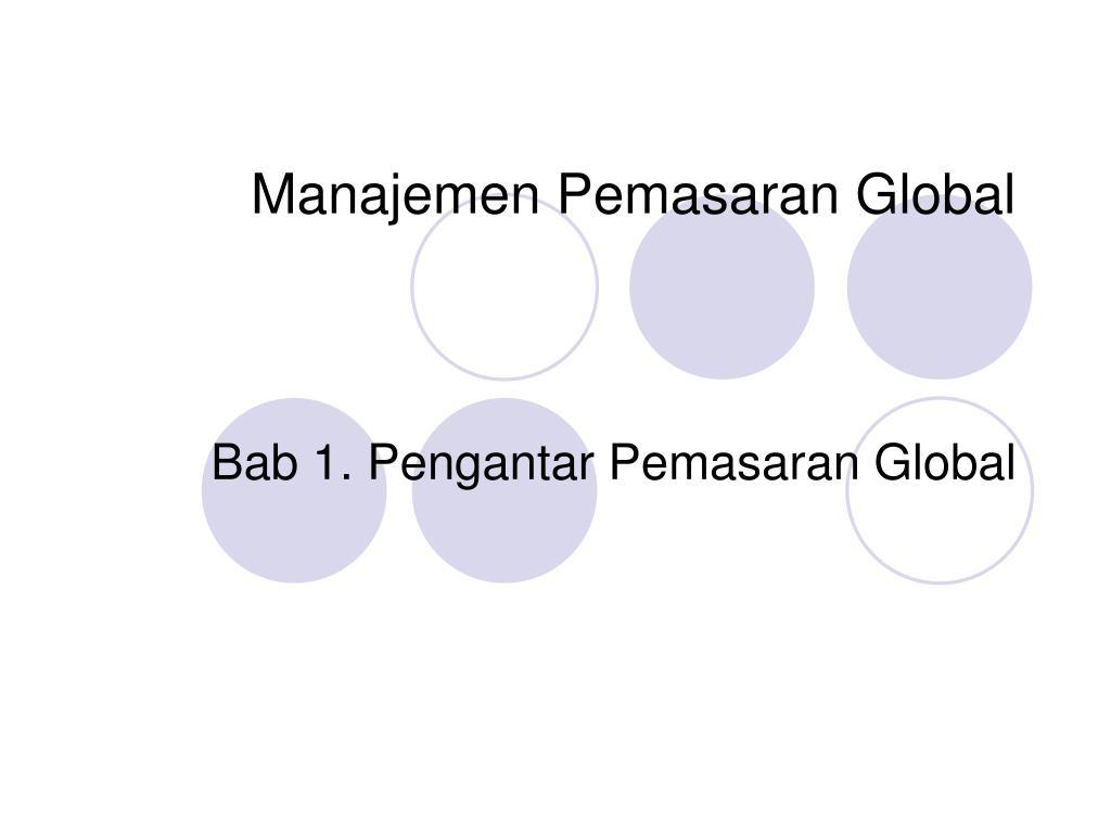 manajemen pemasaran global l.