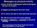 messages on physical activity