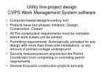 utility line project design cvps work management system software