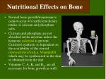 nutritional effects on bone