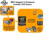 mpv support in products example dvd players