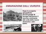 emigrazione dall europa