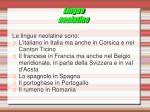 lingue neolatine
