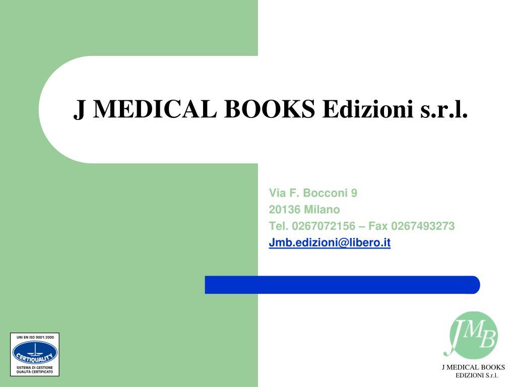 j medical books edizioni s r l l.