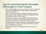 tips for introducing the strengths philosophy to your campus21