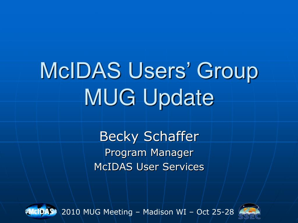 mcidas users group mug update l.