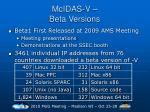 mcidas v beta versions