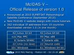 mcidas v official release of version 1 0
