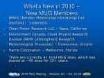 what s new in 2010 new mug members