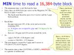 min time to read a 16 384 byte block