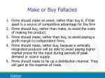 make or buy fallacies
