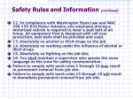 safety rules and information continued18