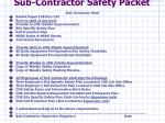 sub contractor safety packet