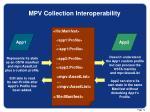 mpv collection interoperability
