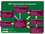 mpv specification architecture