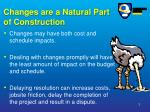 changes are a natural part of construction