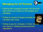 managing the co process49