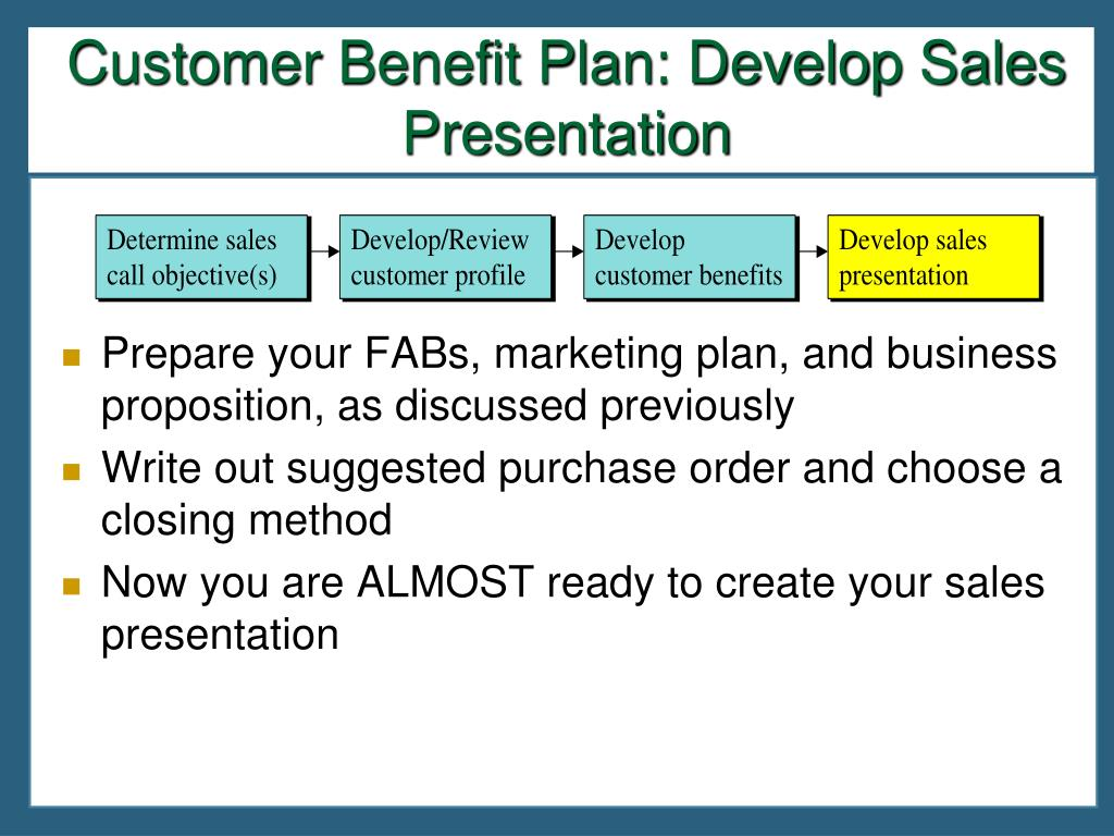 Business plan customer benefits