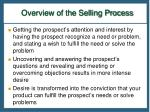 overview of the selling process