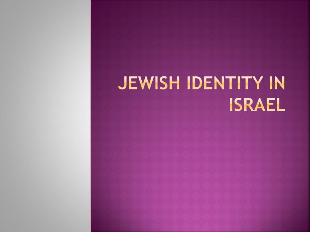 jewish identity in israel l.