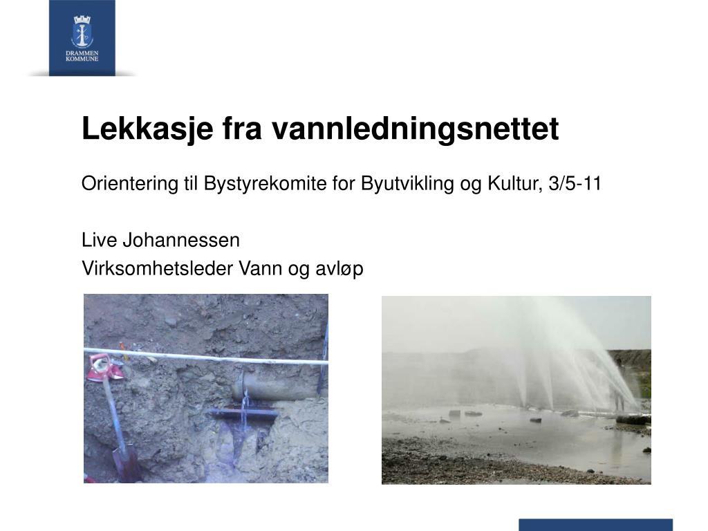 lekkasje fra vannledningsnettet l.