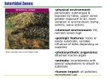 intertidal zones