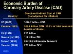 economic burden of coronary artery disease cad