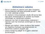alzheimers vaksine