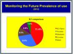 monitoring the future prevalence of use 2012