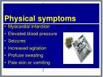 physical symptoms