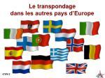 le transpondage dans les autres pays d europe